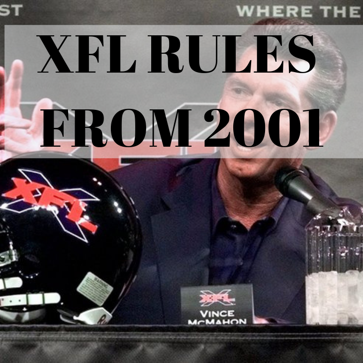 XFL Rules From 2001