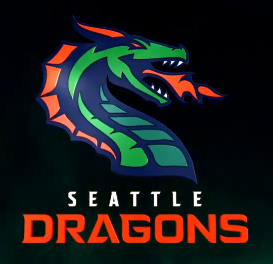 XFL Seattle team reveals name, logo — Seattle Dragons